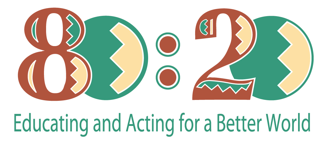 80:20 EDUCATING AND ACTING FOR A BETTER WORLD logo